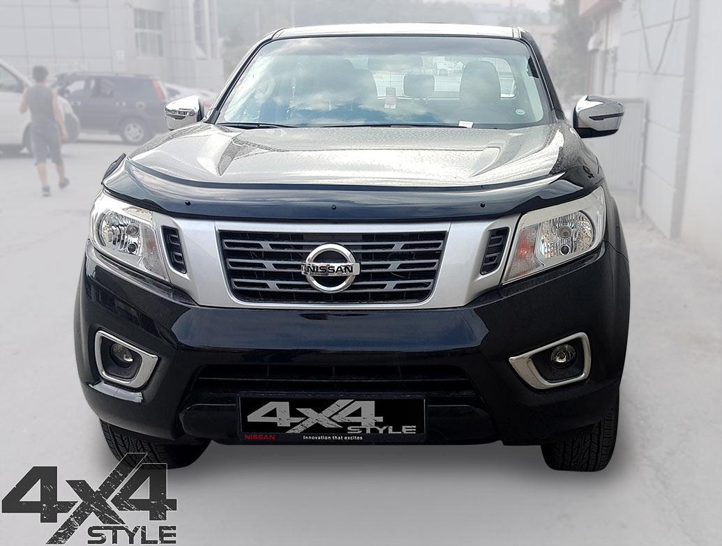 Nissan Narava D23 2016> Black Acrylic Bonnet Wind Deflector