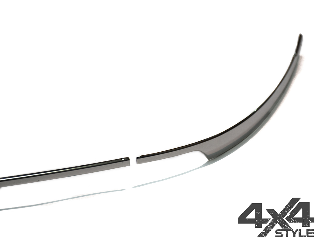3-Piece Polished S.Steel Rear Bumper Streamer – VW Tiguan 2016>