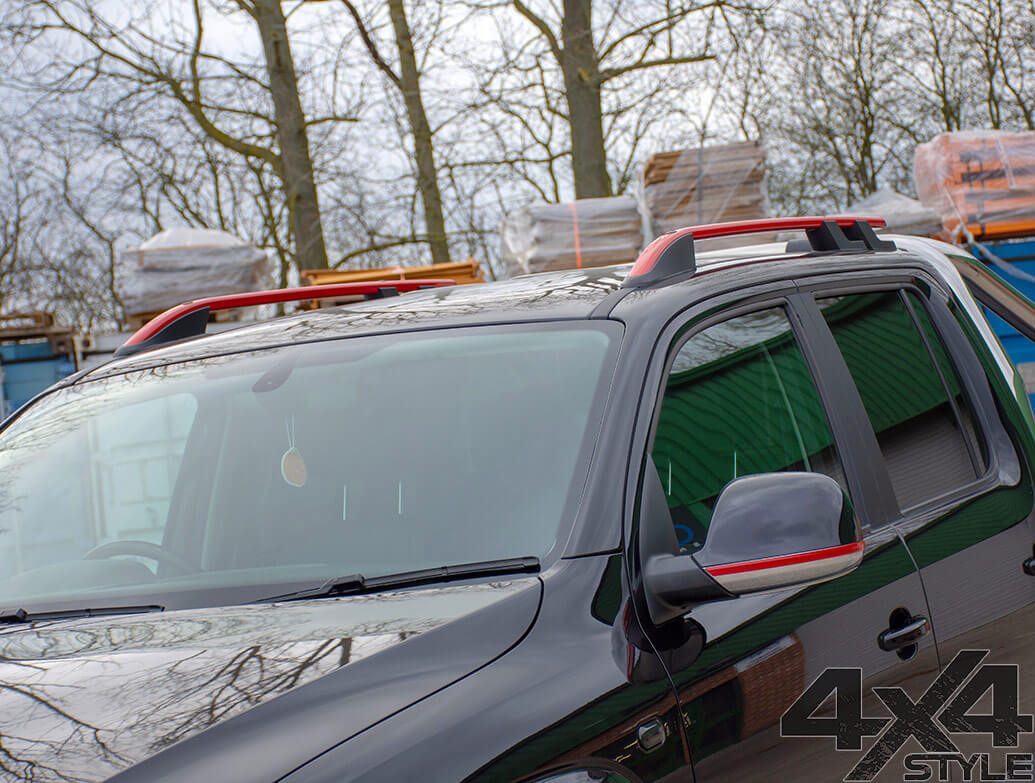 Red Edition Aluminium Roof Bars - VW Amarok 2010>