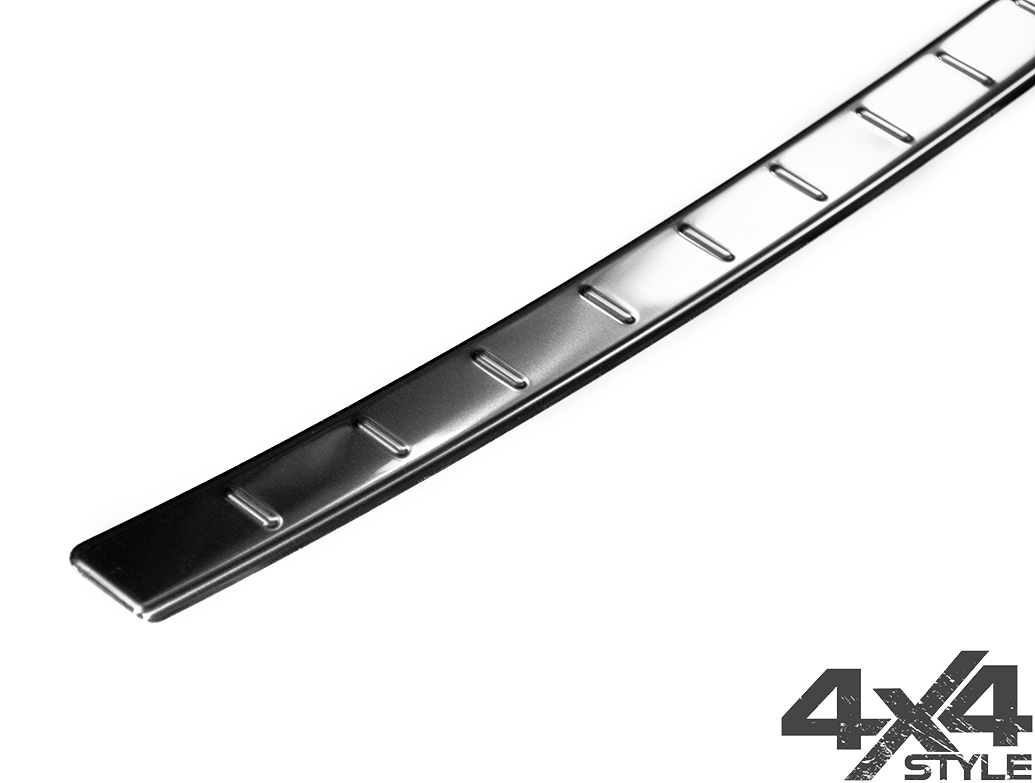 Polished Stainless Steel Rear Bumper Sill Cover - Audi Q3 12-18