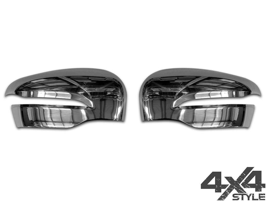 Polished Stainless Steel Mirror Covers - Mercedes X-Class 2017>