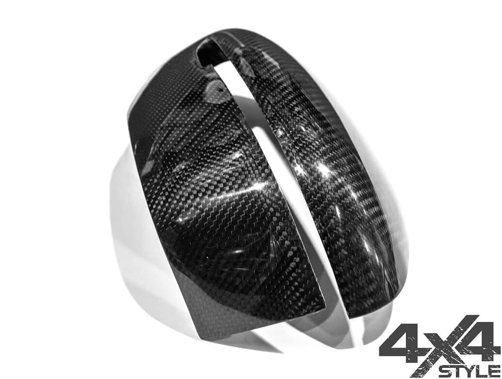 Real Carbon Fibre 2 Pcs Wing Mirror Covers - Nissan Qashqai 14>