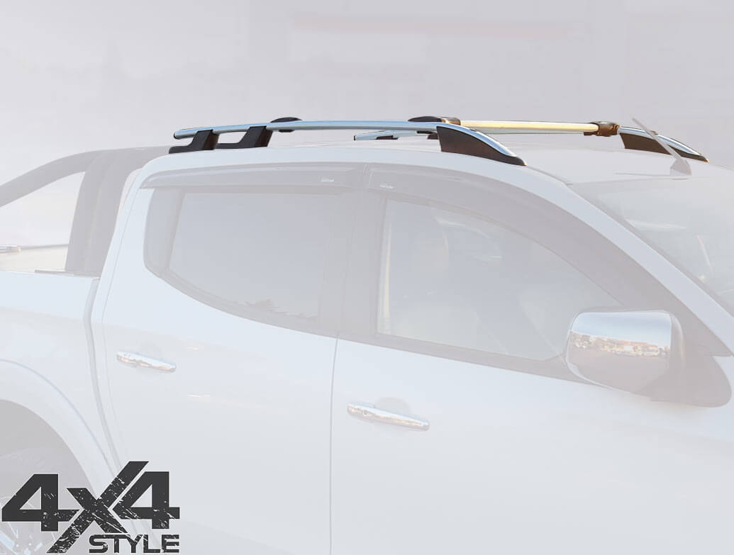 Silver Aluminium Roof & Cross Bars - Mitsubishi L200 2015>