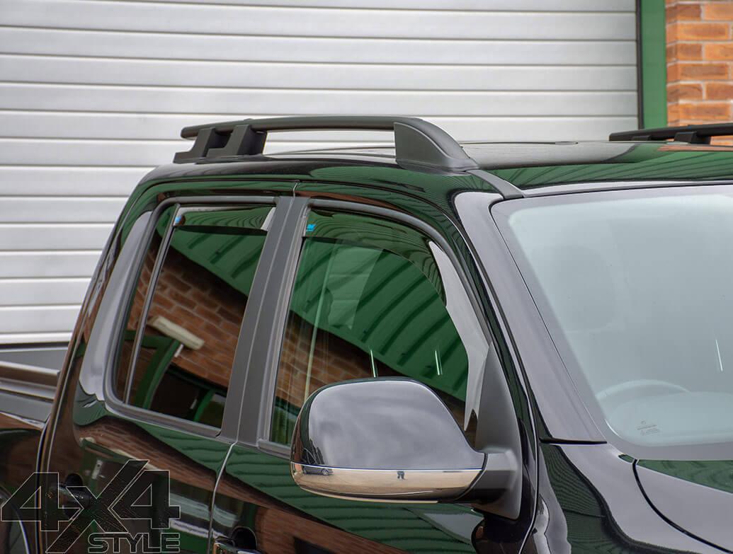 Climair Front & Rear Smoked Wind Deflectors - VW Amarok 2010>