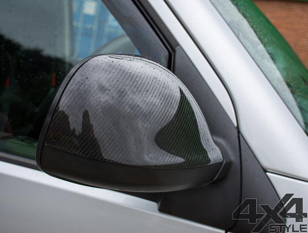 Real Carbon Fibre Mirror Covers - VW Amarok 2010>