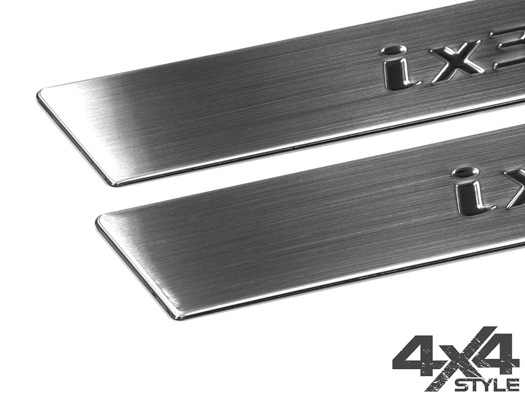 Brushed Stainless Steel Door Sill Covers - Hyundai IX35 10>15