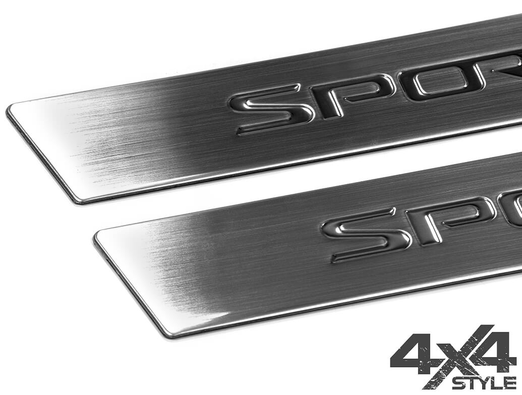 Brushed Stainless Steel Door Sill Covers - Kia Sportage 10>15