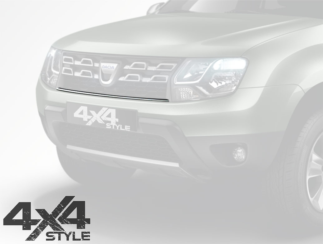 Polished S.Steel Front Grille Streamer - Dacia Duster 2012>