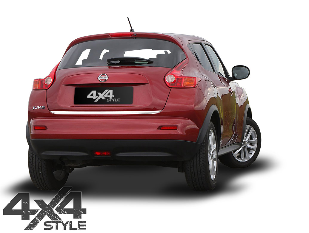Polished Stainless Steel Tailgate Trim Line - Nissan Juke 2011>