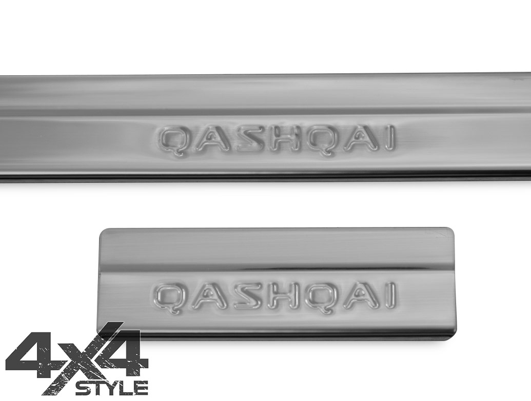 Polished Stainless Steel Door Sill Covers - Nissan Qashqai 2014>