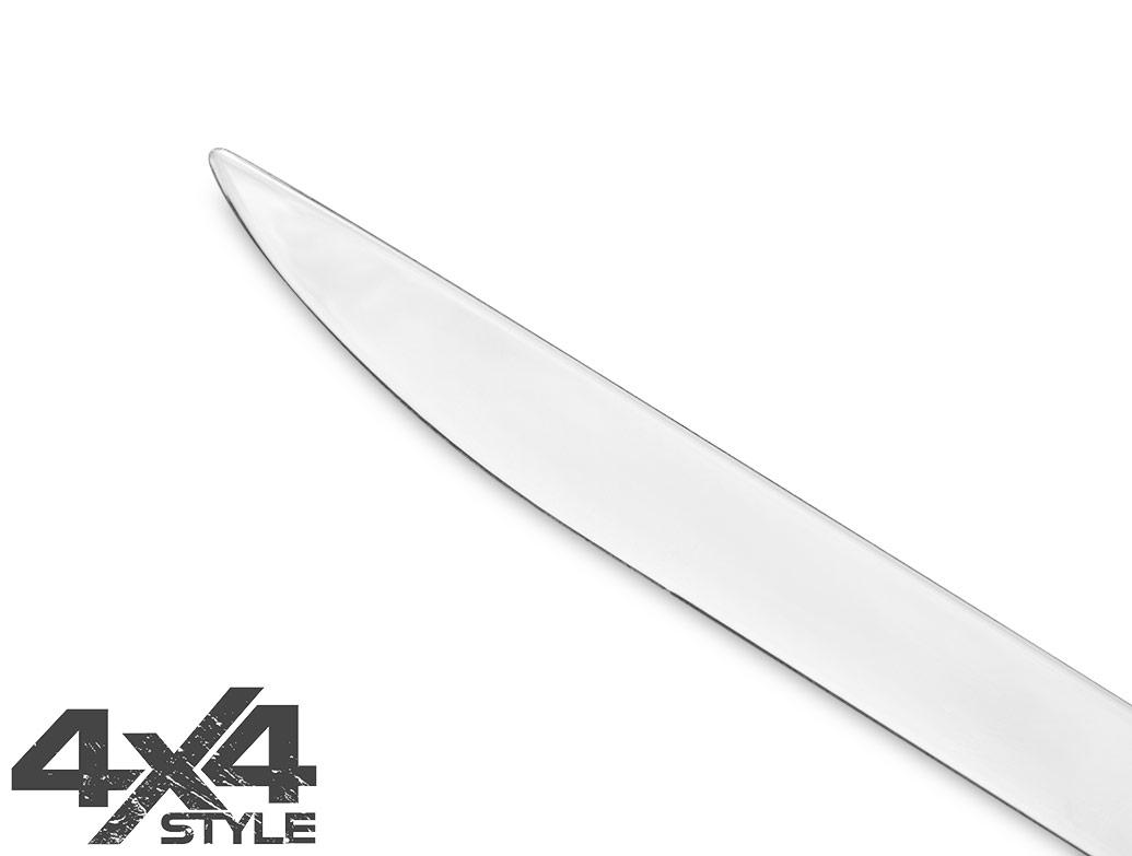 Polished S.Steel Tailgate Trim Line - Nissan Qashqai 2014>