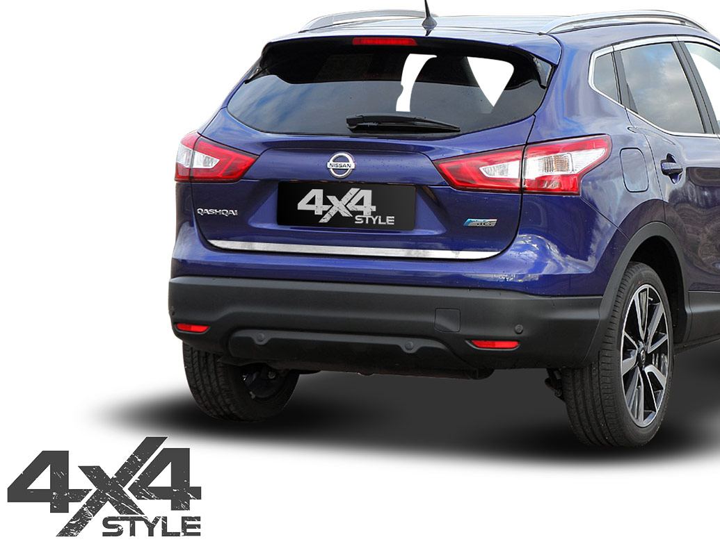 Brushed Stainless Steel Tailgate Trim - Nissan Qashqai 14>