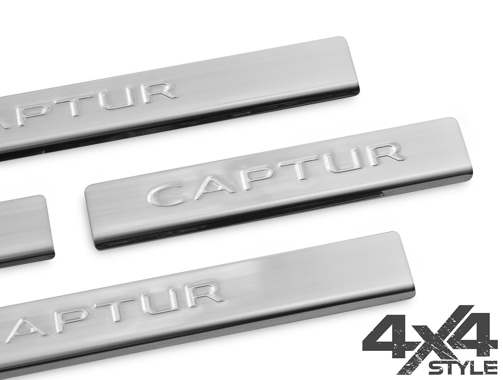 Brushed Stainless Steel Door Sill Cover - Renault Captur 2013>