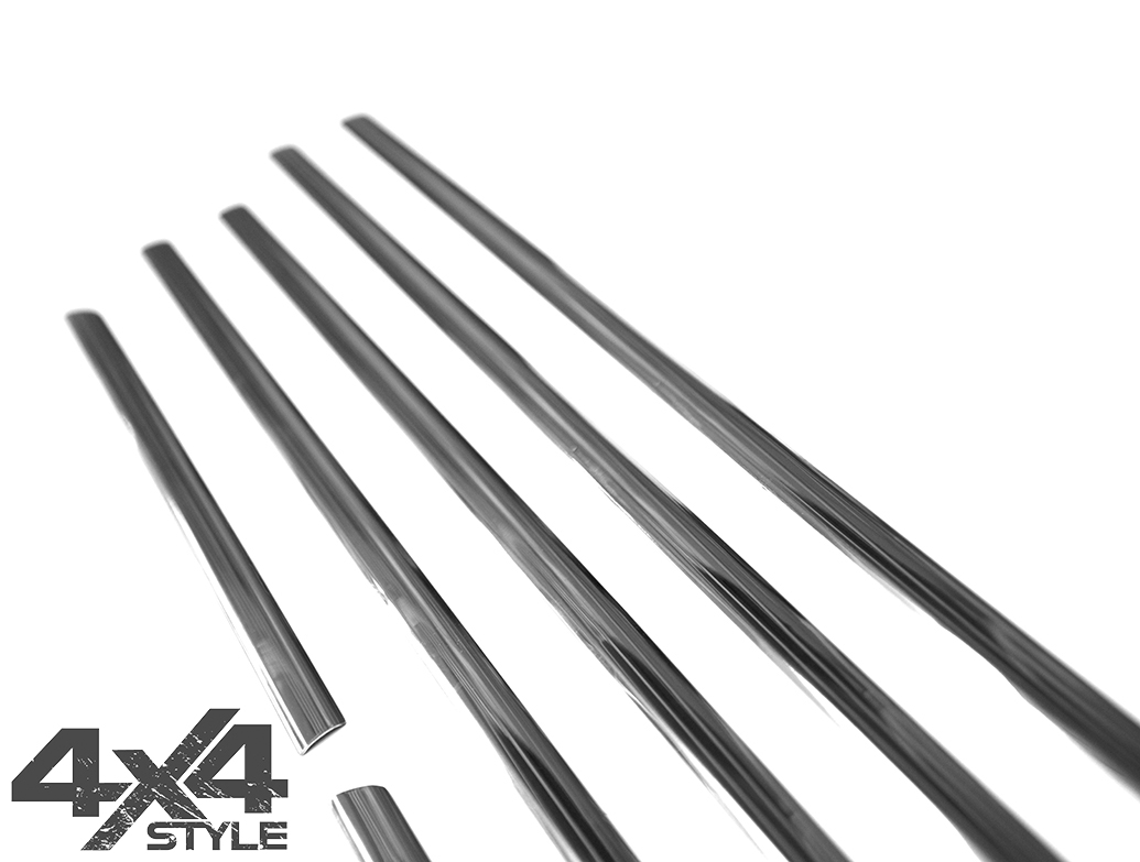 Polished Stainless Steel Window Trim Covers - Kia Sorento 10>14