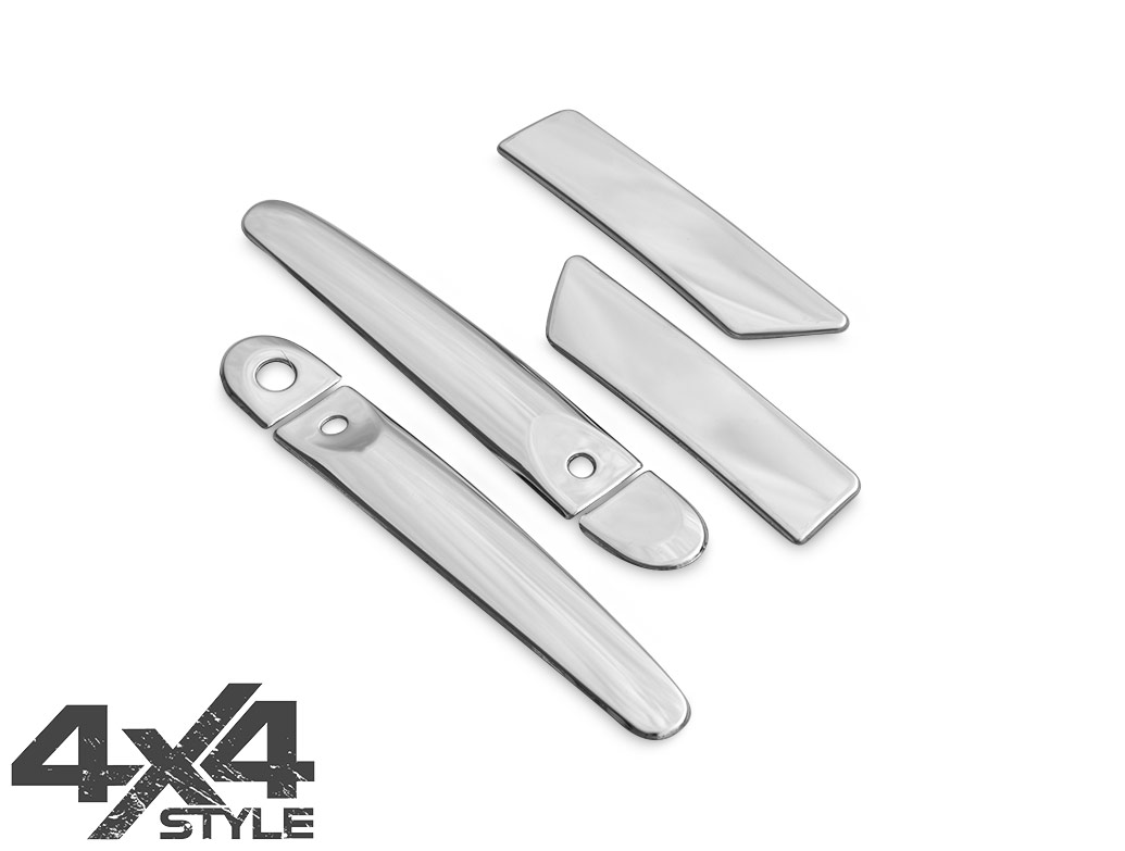 Stainless Steel Door Handle Covers - Nissan Juke (Keyless) 11>