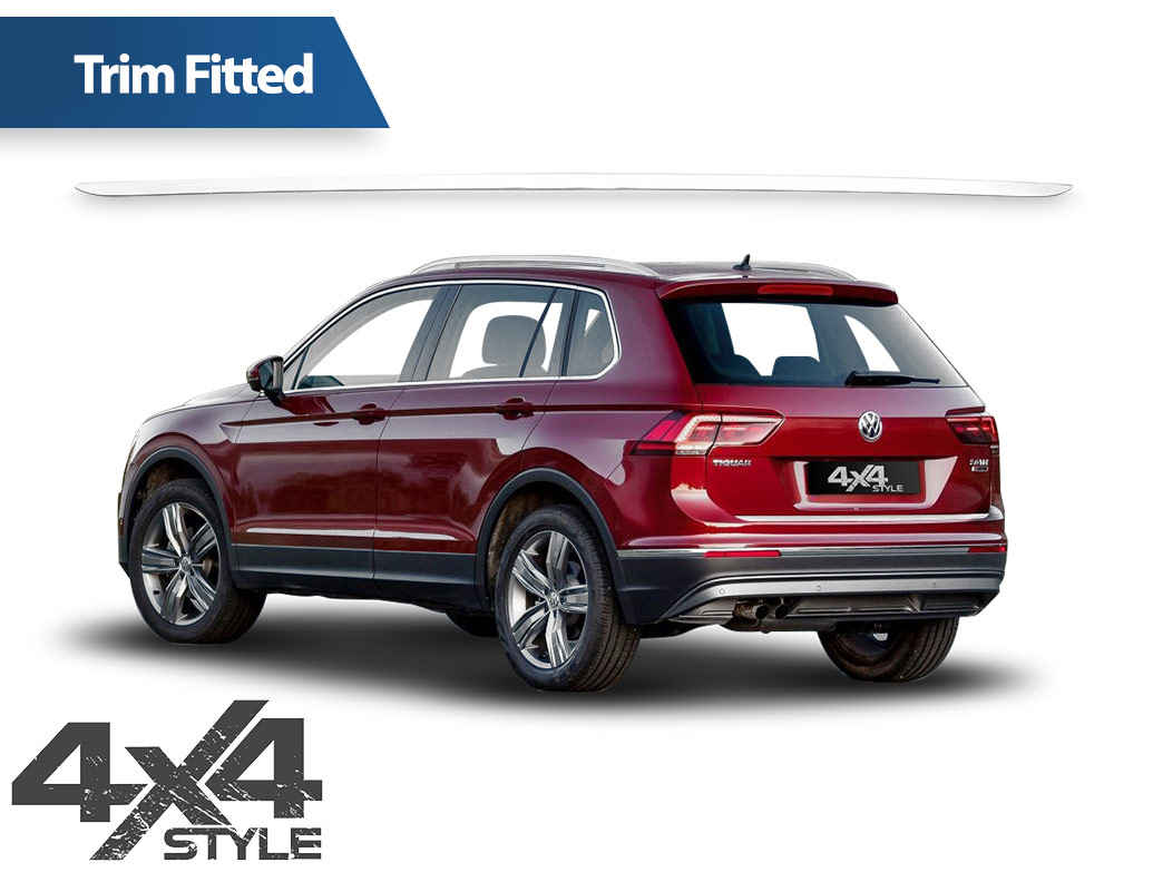 Polished Stainless Steel Tailgate Trim Line - VW Tiguan 2016>