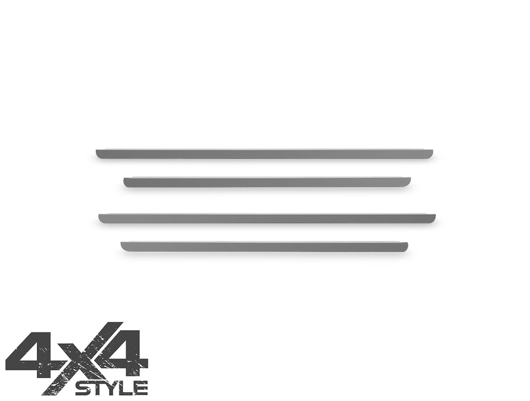 Polished Stainless Steel Window Trim Set - Dacia Duster 2010>