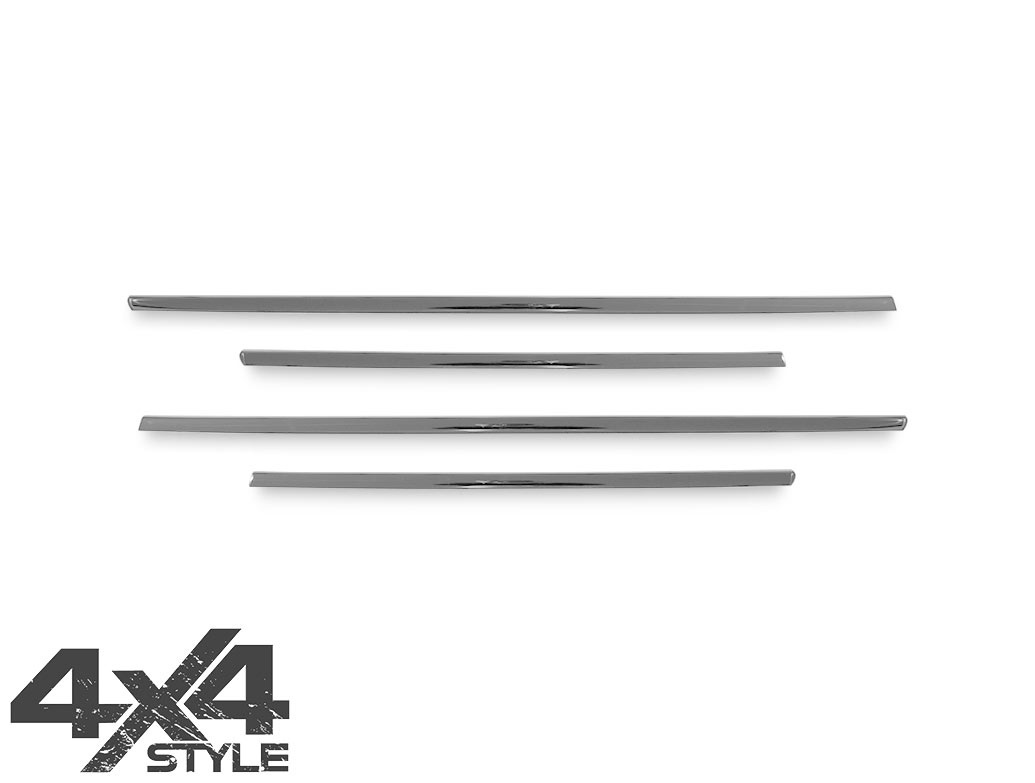 Polished Stainless Steel Window Trim Set - Renault Captur 2013>