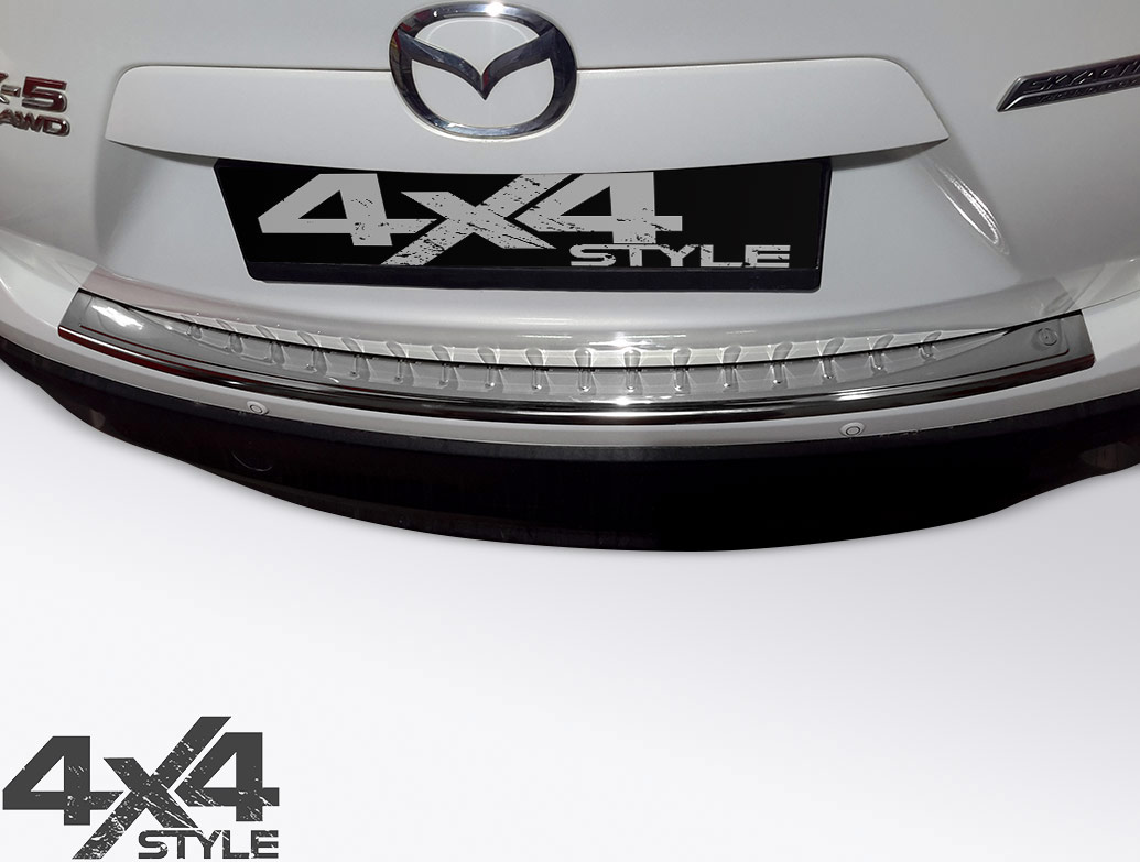 Polished Stainless Steel Rear Bumper Protector - Mazda CX5 12-17