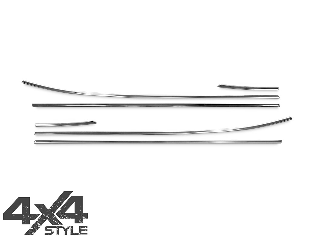 Polished Stainless Steel Window Trim Set - Hyundai iX35 10-15