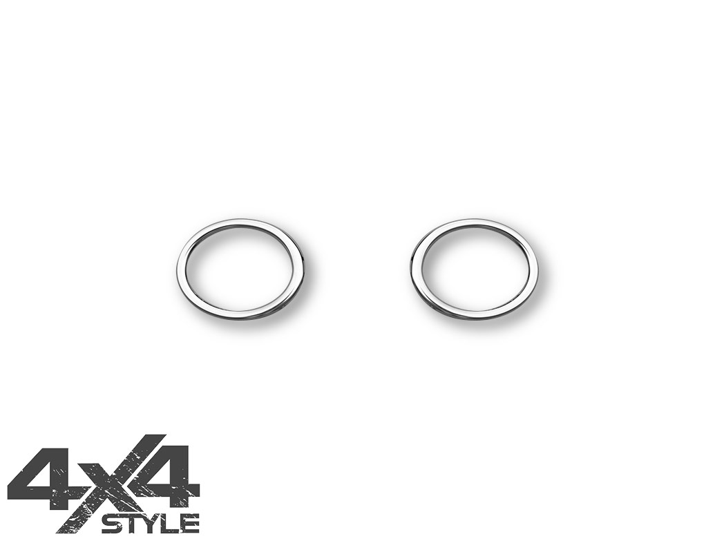 Polished Stainless Steel Fog Light Surrounds - VW Amarok 10-16