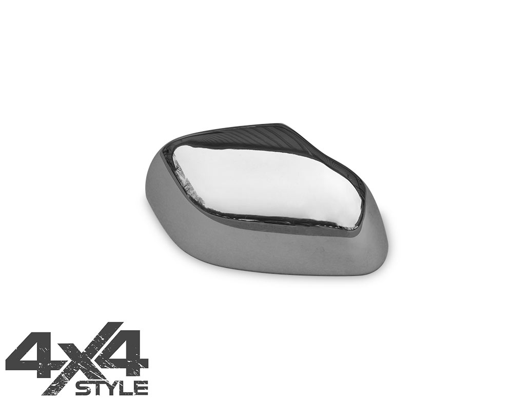 Polished Stainless Steel Mirror Covers - Dacia Duster 10-15