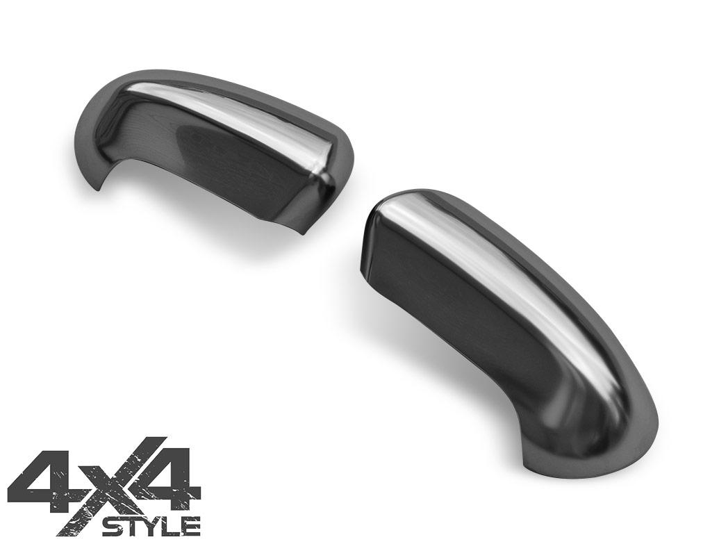 Satin Chrome ABS Mirror Covers - Nissan Qashqai 07>14