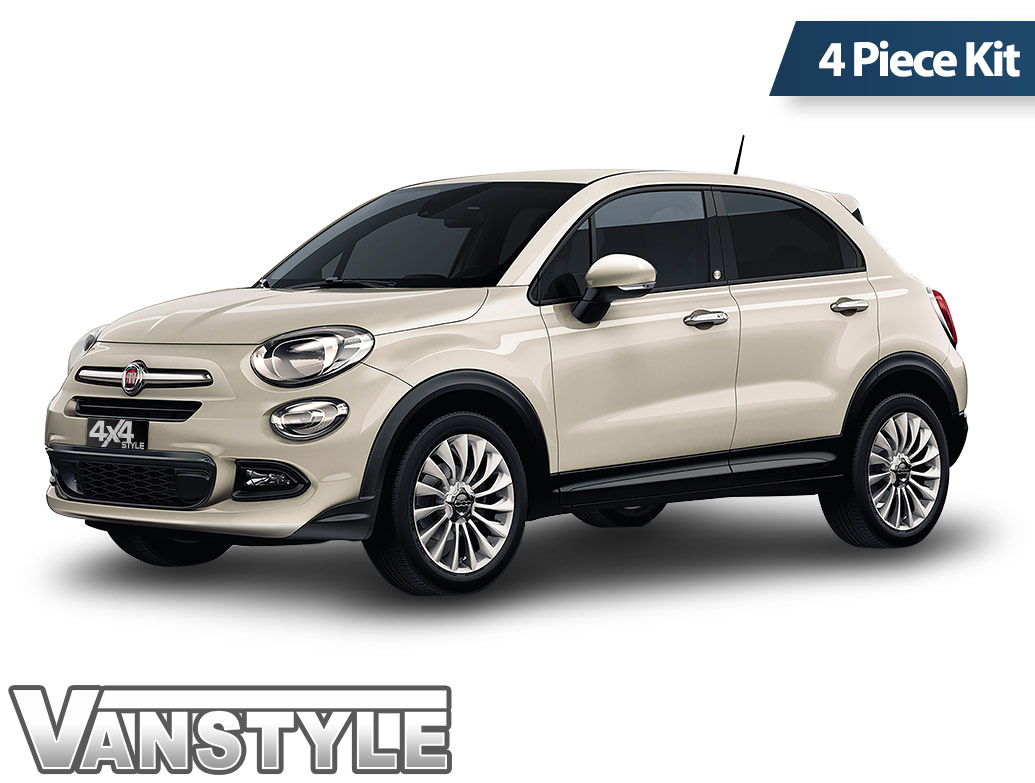 Polished Stainless Steel Side Door Streamers - Fiat 500X 2015>