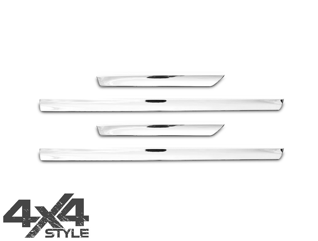 Polished Stainless Steel Side Door Streamers - Qashqai 07>14
