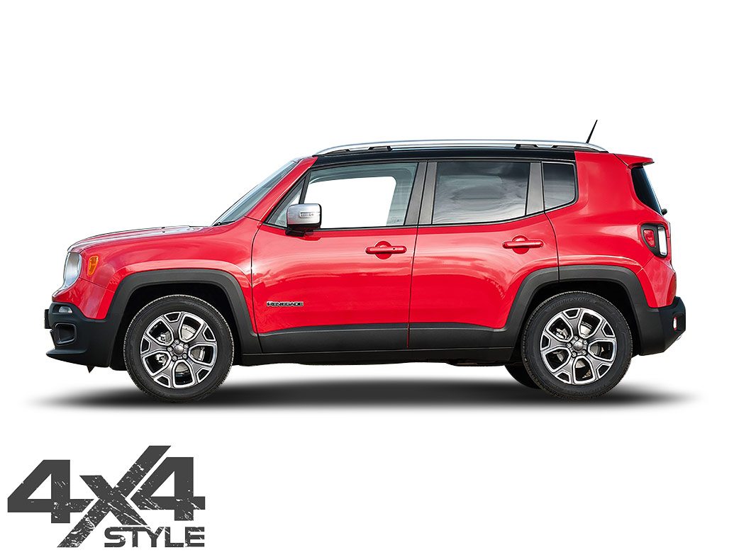 Polished Stainless Steel Door Streamers - Jeep Renegade 2014>