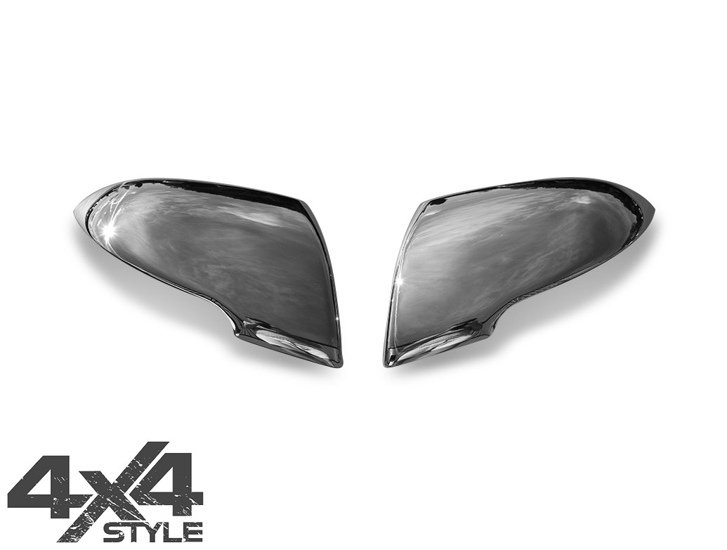 Polished Stainless Steel Wing Mirror Covers - Kia Sportage 10-15