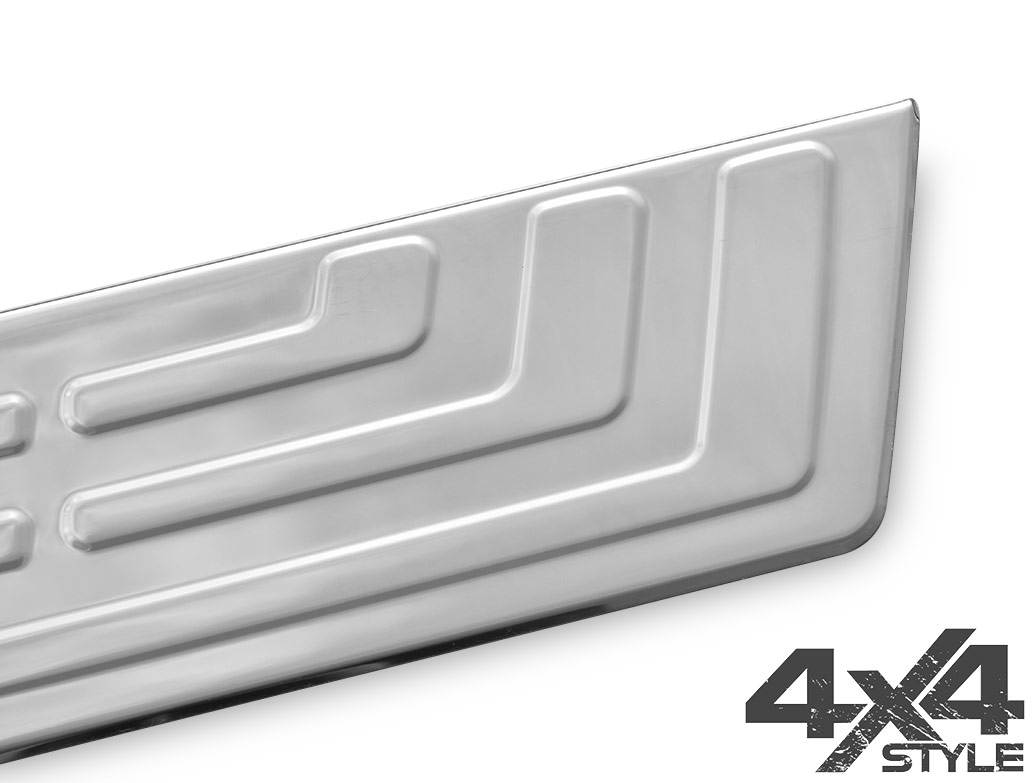 Polished Stainless Steel Rear Bumper Protector - VW Amarok 2010>