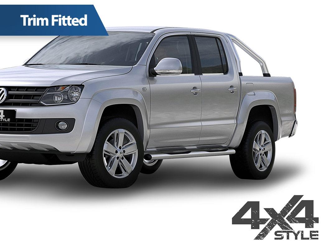 Polished Stainless Steel Window Trim Set - VW Amarok 2010>