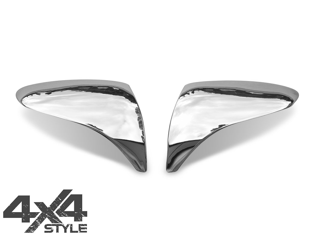 Polished Stainless Steel Mirror Covers - Hyundai iX35 10-15