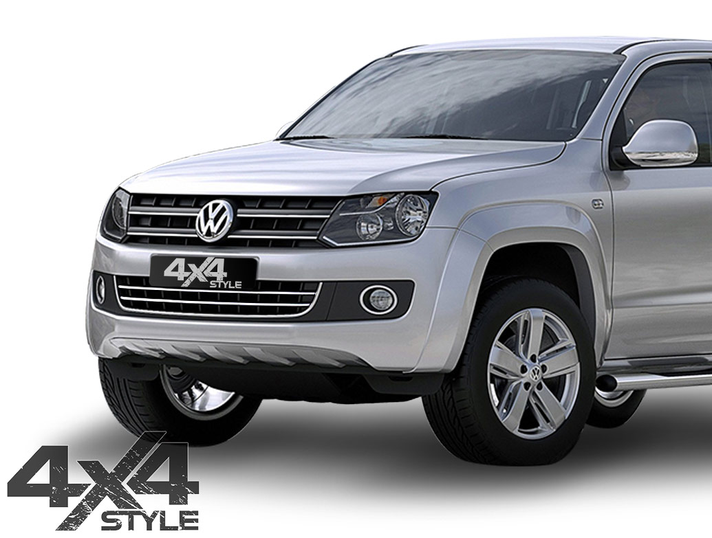 2 Piece Stainless Steel Lower Grille Trim - VW Amarok 10-16