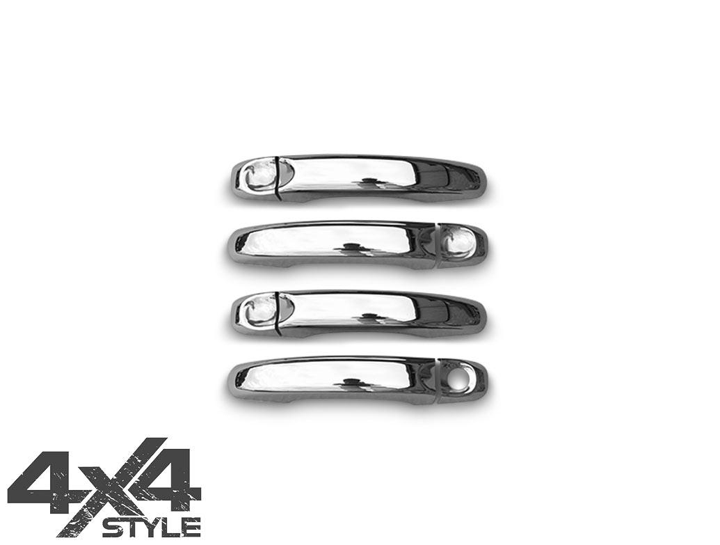 Polished Stainless Steel Door Handle Covers - VW Amarok 2010>