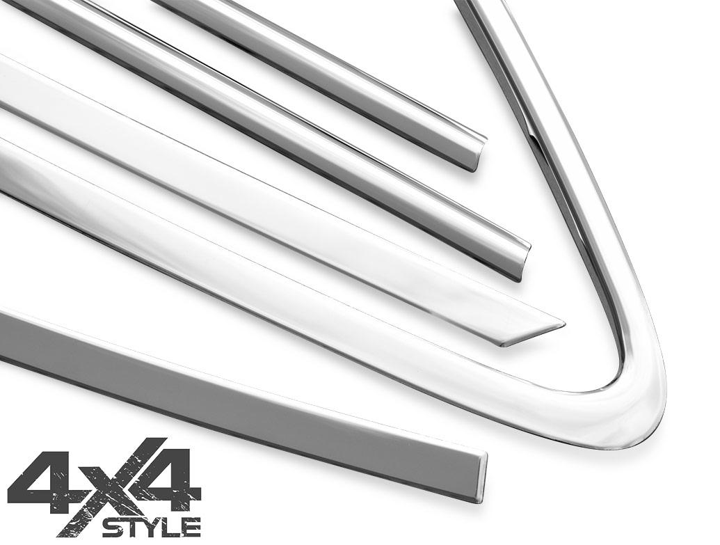 Polished Stainless Steel Window Trim Set - Hyundai iX35 10-15