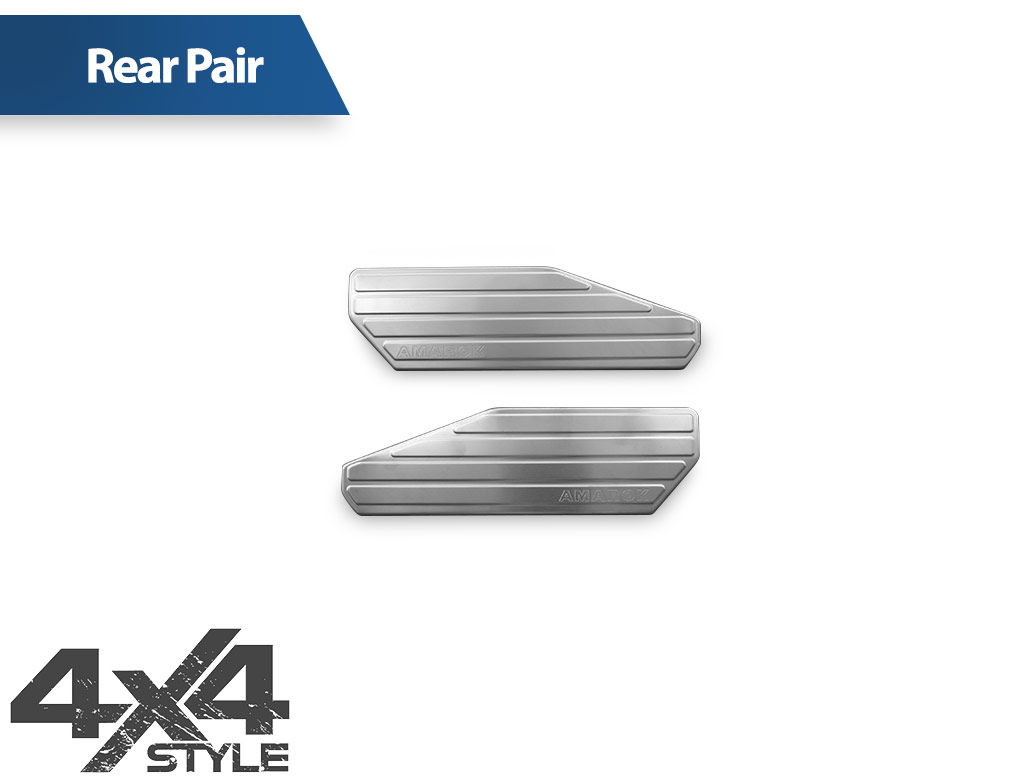 Brushed Stainless Steel Inner Door Sill Covers - VW Amarok 2010>