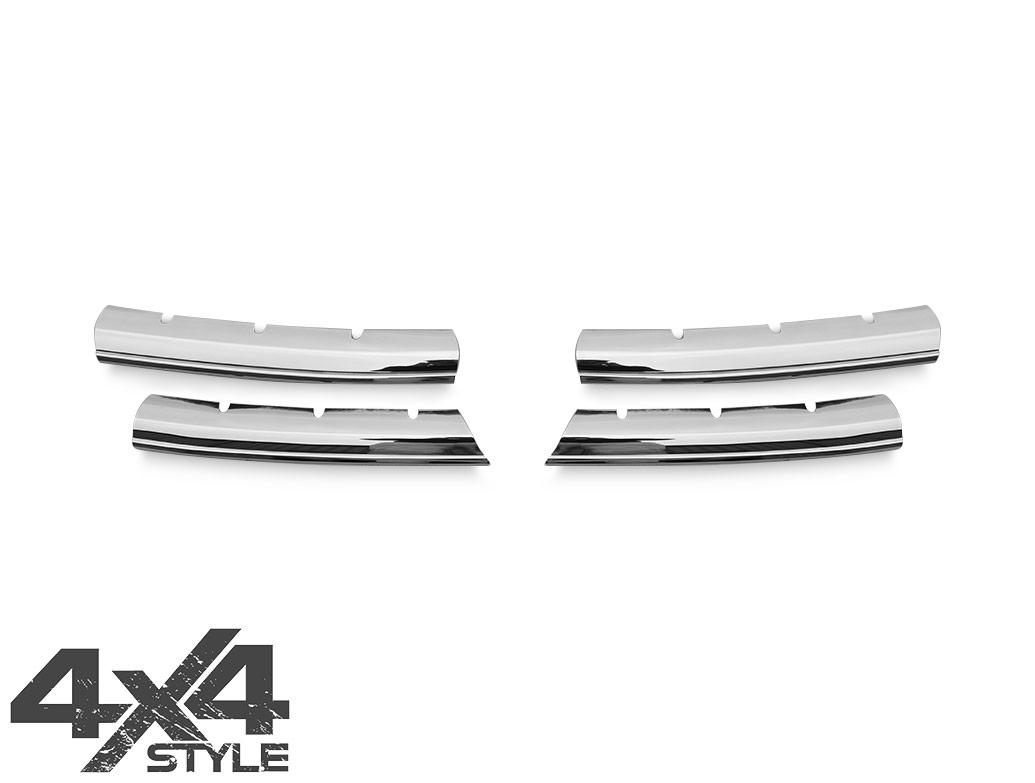 4 Piece Stainless Steel Upper Grille Wide Trim - Amarok 10-16