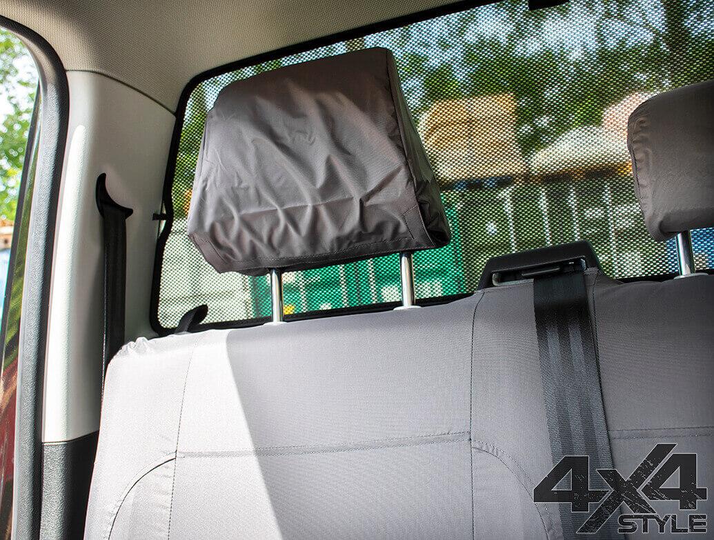 Genuine VW Rear Waterproof Seat Covers Grey - VW Amarok 10>