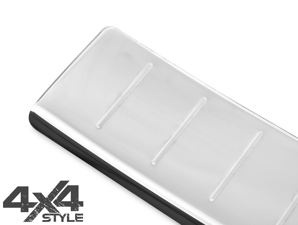 Polished Stainless Steel Rear Bumper Protector - Peugeot 5008