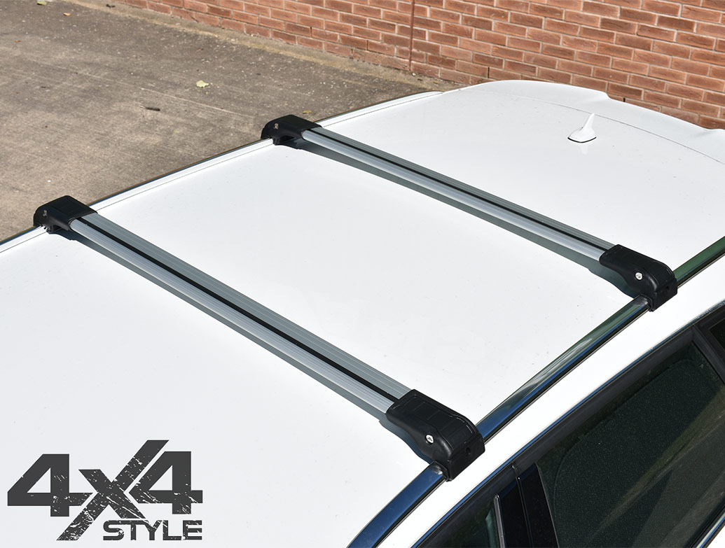 Silver Aluminium Wing Carrier Cross Bars - Vauxhall Mokka  2012>