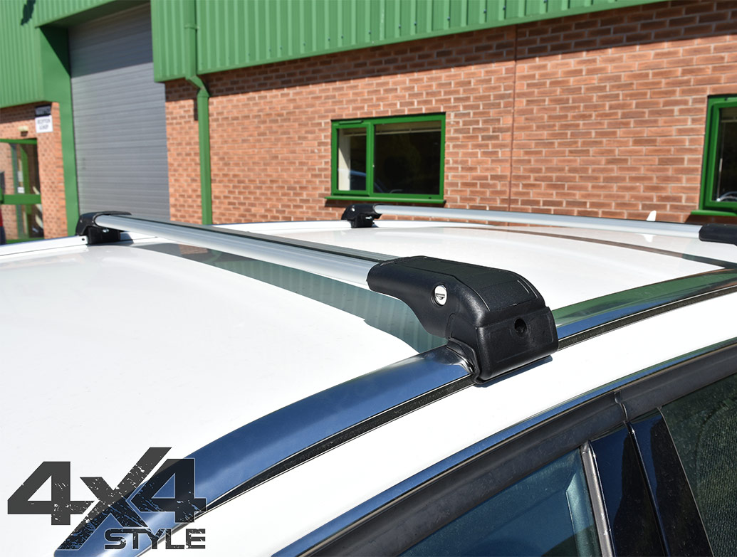 Silver Aluminium Wing Carrier Cross Bars - Crossland 2017>
