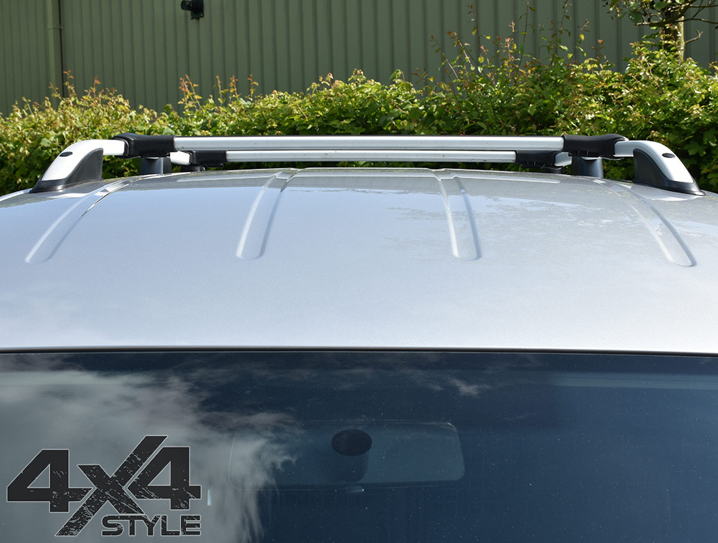 Silver Aluminium Cross Bars - Dacia Duster 2018>