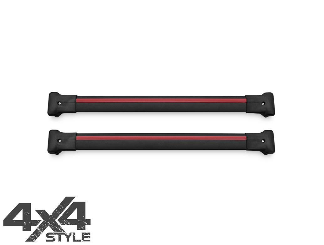 Black Aluminium Cross Bars - VW Touareg 10-18