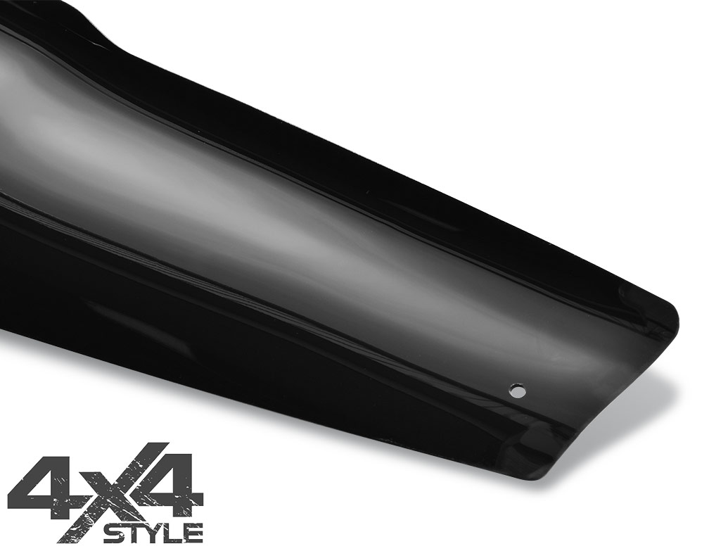 Gloss Black Acrylic Bonnet Deflector - Nissan Navara D40 05-10