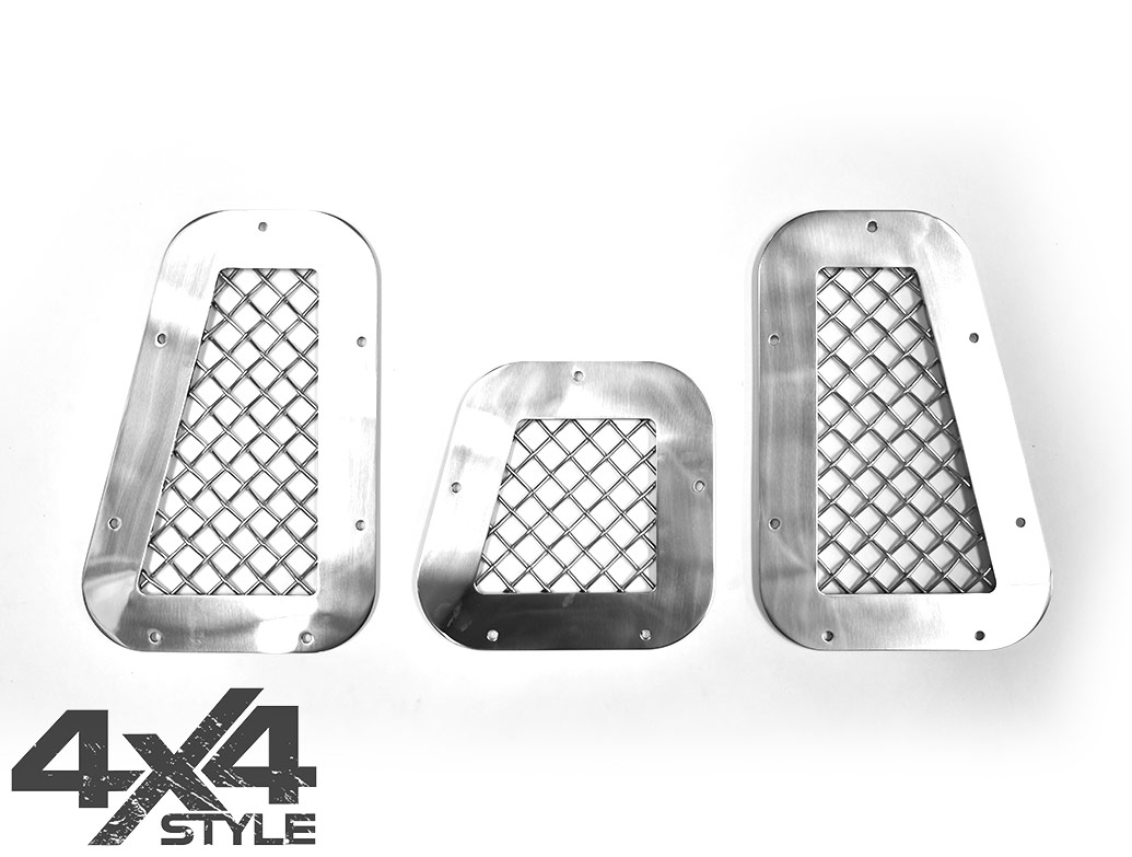Zunsport Polished Stainless Full Grille Set - LR Defender 07>