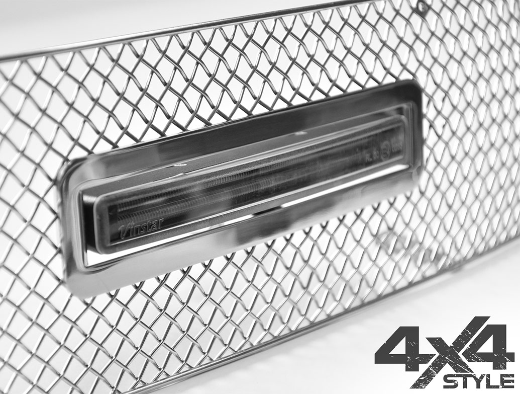 Zunsport Polished Chrome LED DRL Lower Grille - VW Amarok 10-16