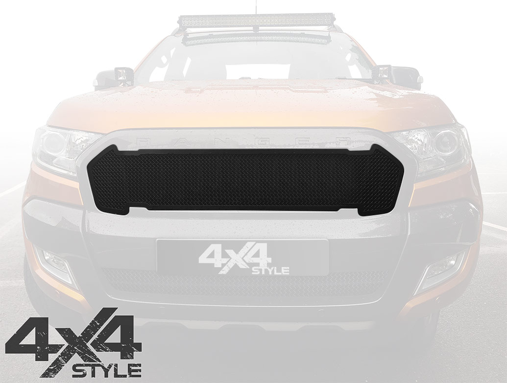 Zunsport Black Nylon Coated Upper Grille - Ford Ranger 2015>