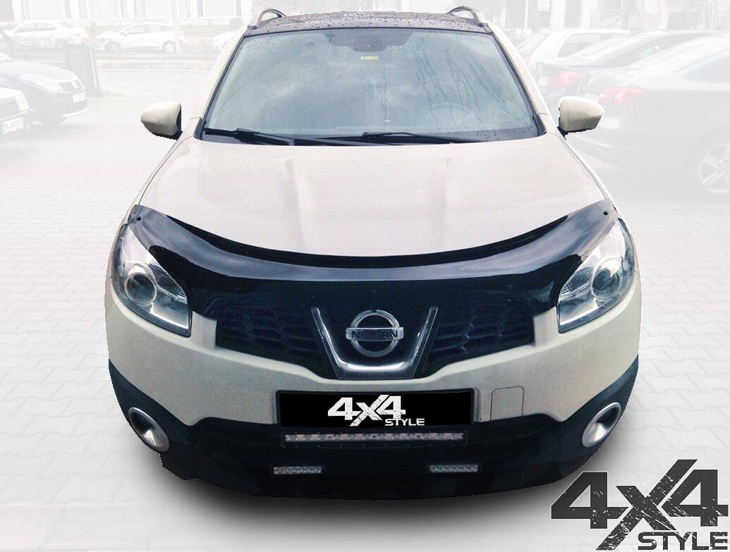 Gloss Black Acrylic Bonnet Deflector - Nissan Qashqai 2010>2014